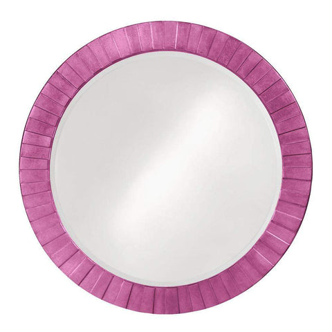 Howard Elliott Serenity Hot Pink Mirror 35H x 35W x 1D - 6002HP-Wall Mirror-Floor Mirror Gallery