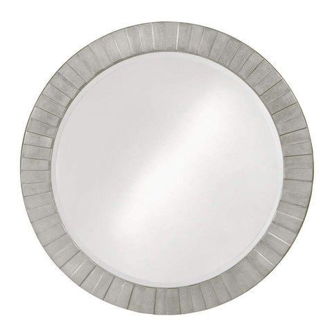 Howard Elliott Serenity Glossy Nickel Mirror 35H x 35W x 1D - 6002N-Wall Mirror-Floor Mirror Gallery