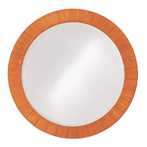 Howard Elliott Serenity Glossy Orange Mirror 35H x 35W x 1D - 6002O-Wall Mirror-Floor Mirror Gallery