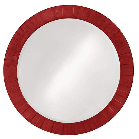 Howard Elliott Serenity Red Mirror 35H x 35W x 1D - 6002R-Wall Mirror-Floor Mirror Gallery