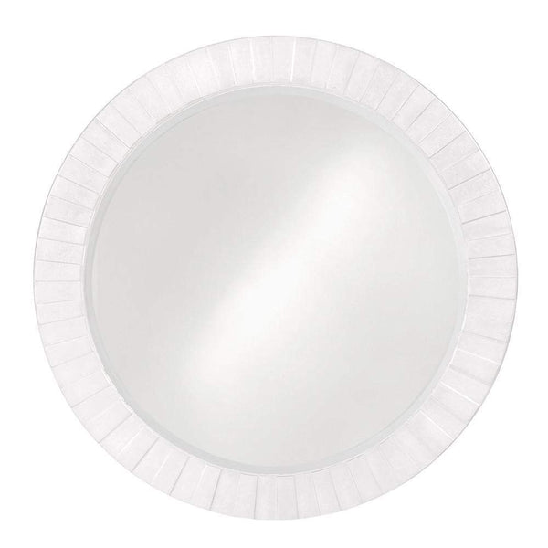 Howard Elliott Serenity White Mirror 35H x 35W x 1D - 6002W-Wall Mirror-Floor Mirror Gallery