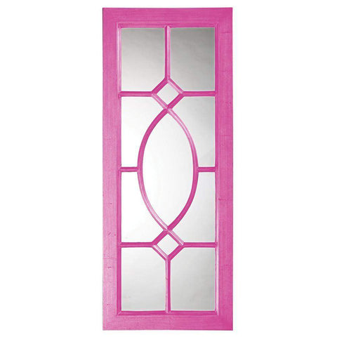 Howard Elliott Dayton Hot Pink Mirror 53H x 21W x 1D - 60108HP-Wall Mirror-Floor Mirror Gallery