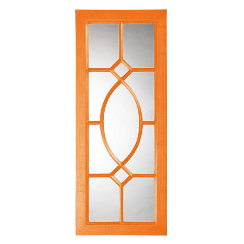 Howard Elliott Dayton Orange Mirror 53H x 21W x 1D - 60108O-Wall Mirror-Floor Mirror Gallery