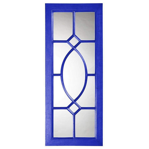 Howard Elliott Dayton Royal Blue Mirror 53H x 21W x 1D - 60108RB-Wall Mirror-Floor Mirror Gallery