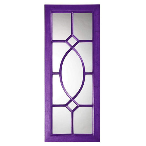 Howard Elliott Dayton Royal Purple Mirror 53H x 21W x 1D - 60108RP-Wall Mirror-Floor Mirror Gallery