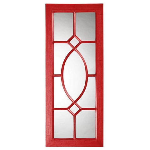 Howard Elliott Dayton Red Mirror 53H x 21W x 1D - 60108R-Wall Mirror-Floor Mirror Gallery