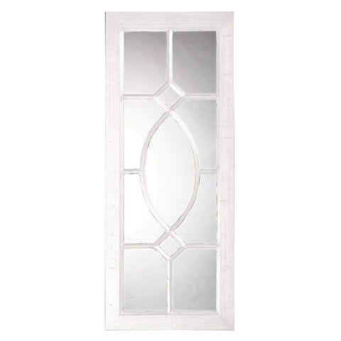 Howard Elliott Dayton White Mirror 53H x 21W x 1D - 60108W-Wall Mirror-Floor Mirror Gallery