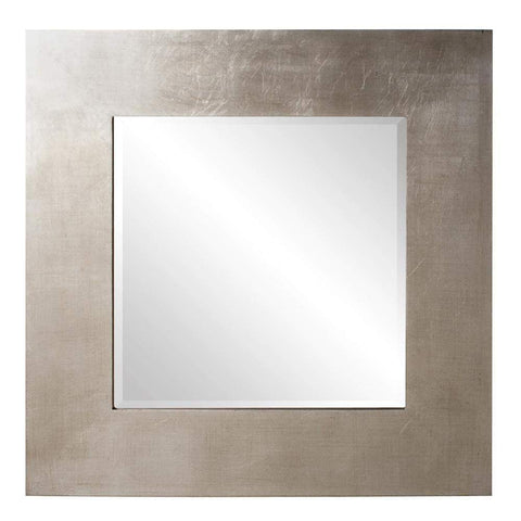 Howard Elliott Sonic Silver Square Mirror 20H x 20W x 1D - 60201-Wall Mirror-Floor Mirror Gallery