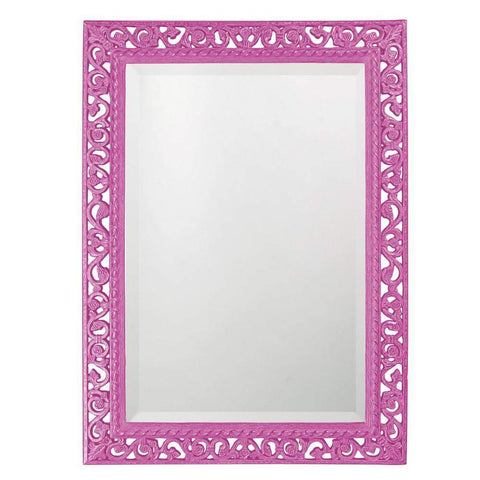 Howard Elliott Rectangle Bristol Glossy Hot Pink Mirror 36H x 26W x 1D - 6041HP-Wall Mirror-Floor Mirror Gallery