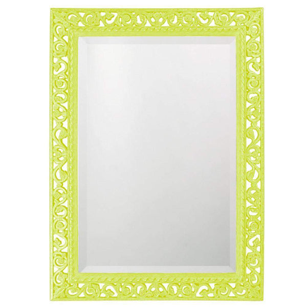 Howard Elliott Rectangle Bristol Glossy Moss Green Mirror 36H x 26W x 1D - 6041MG-Wall Mirror-Floor Mirror Gallery