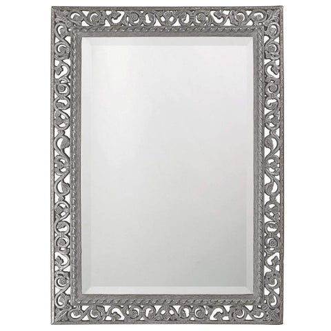 Howard Elliott Rectangle Bristol Glossy Nickel Mirror 36H x 26W x 1D - 6041N-Wall Mirror-Floor Mirror Gallery