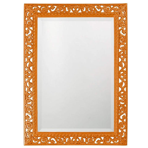 Howard Elliott Rectangle Bristol Glossy Orange Mirror 36H x 26W x 1D - 6041O-Wall Mirror-Floor Mirror Gallery