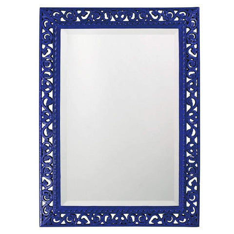 Howard Elliott Rectangle Bristol Glossy Royal Blue Mirror 36H x 26W x 1D - 6041RB-Wall Mirror-Floor Mirror Gallery