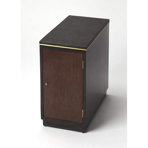 Butler Onyx Leather Chairside Table 6176260-Chairside Chests-Floor Mirror Gallery
