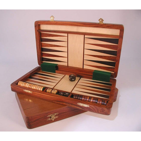 Wood Magnetic Backgammon, Chopra, India, 62512, by WorldWise Imports-Backgammon-Floor Mirror Gallery
