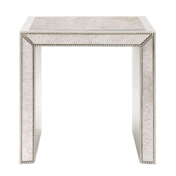 Howard Elliott Antiqued Mirrored Side Table 24H x 24W x 22D - 65034-Accent Table-Floor Mirror Gallery