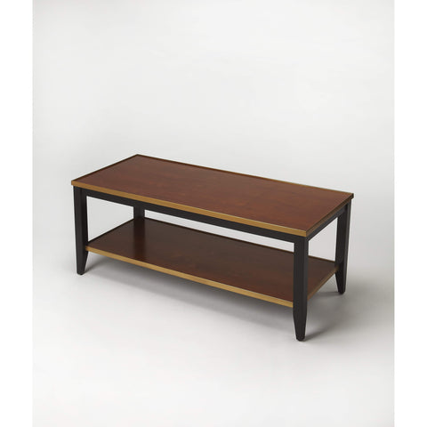 Butler Lambert Transitional Cherry Coffee Table 6807109-Cocktail Tables-Floor Mirror Gallery
