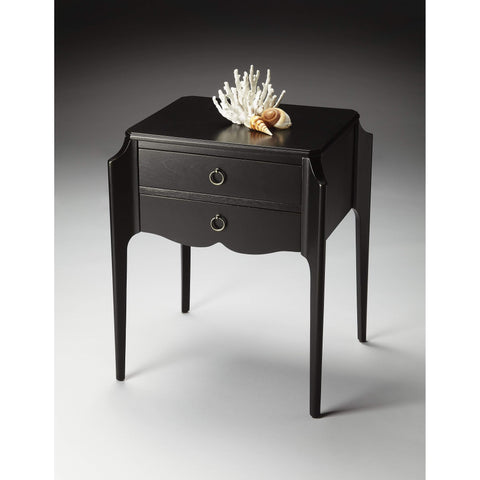 Butler Wilshire Black Licorice Accent Table 7016111-ACCENT TABLE-Floor Mirror Gallery