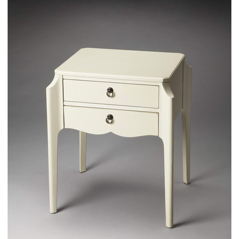 Butler Wilshire Glossy White Accent Table 7016304-Accent Table-Floor Mirror Gallery