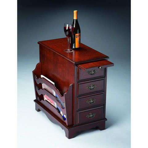 Butler Gregory Plantation Cherry Magazine Table 7038024-Chairside Chests-Floor Mirror Gallery