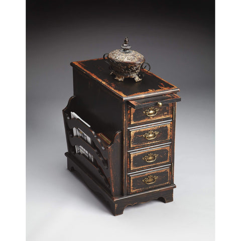 Butler Gregory Midnight Rose Magazine Table 7038250-Chairside Chests-Floor Mirror Gallery