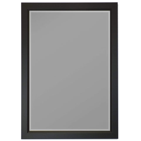 "Hitchcock Butterfield Solana Wall Mirror 27.75""W x 39.75""H, Black, Matte 813502-Wall Mirror-Floor Mirror Gallery"