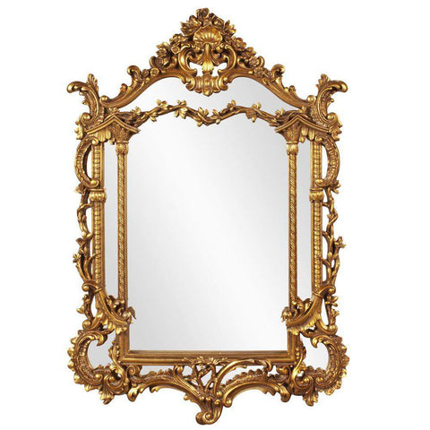 Howard Elliott Arlington Gold Baroque Mirror 49H x 34W x 3D - 84001-Wall Mirror-Floor Mirror Gallery