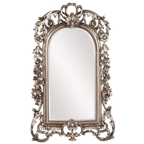 Howard Elliott Sherwood Antique Silver Mirror 22H x 14W x 1D - 84017-Wall Mirror-Floor Mirror Gallery