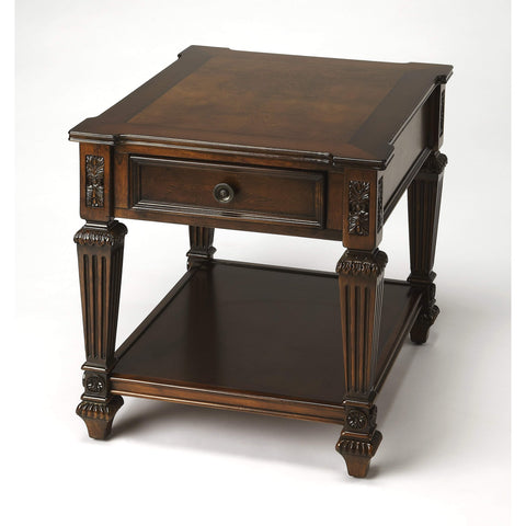 Butler Hastings Nutmeg End Table 8508251-Accent Table-Floor Mirror Gallery