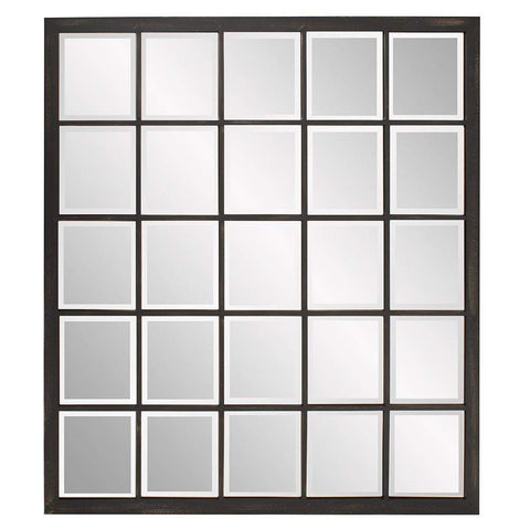 Howard Elliott Superior Window Mirror 38H x 34W x 1D - 9068-Wall Mirror-Floor Mirror Gallery