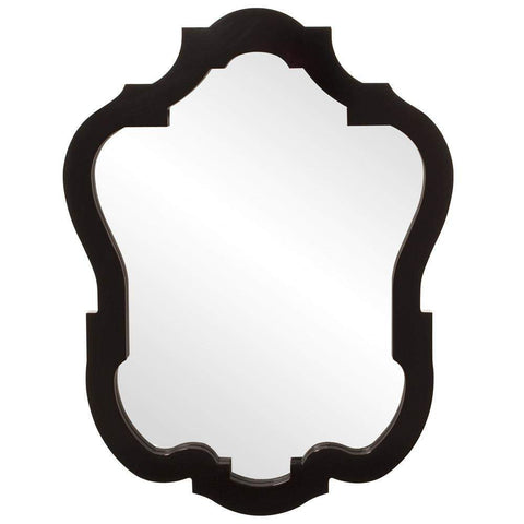 Howard Elliott Asbury Glossy Black Mirror 42H x 32W x 2D - 92001-Wall Mirror-Floor Mirror Gallery