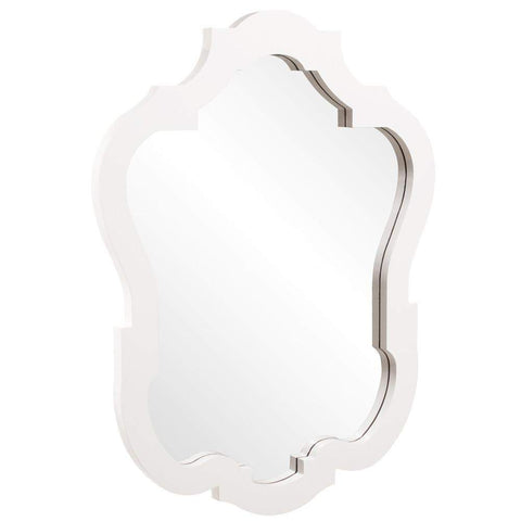 Howard Elliott Asbury Glossy White Mirror 42H x 32W x 2D - 92002-Wall Mirror-Floor Mirror Gallery