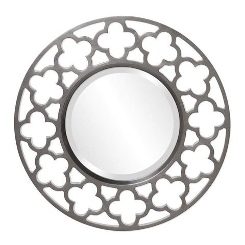Howard Elliott Gaelic Charcoal Gray Mirror 20H x 20W x 1D - 92007CH-Wall Mirror-Floor Mirror Gallery