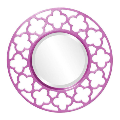 Howard Elliott Gaelic Hot Pink Mirror 20H x 20W x 1D - 92007HP-Wall Mirror-Floor Mirror Gallery