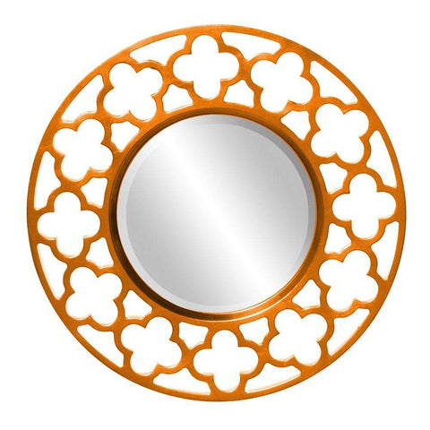 Howard Elliott Gaelic Orange Mirror 20H x 20W x 1D - 92007O-Wall Mirror-Floor Mirror Gallery