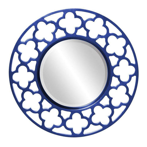 Howard Elliott Gaelic Royal Blue Mirror 20H x 20W x 1D - 92007RB-Wall Mirror-Floor Mirror Gallery