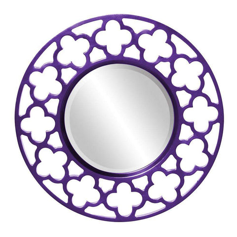 Howard Elliott Gaelic Royal Purple Mirror 20H x 20W x 1D - 92007RP-Wall Mirror-Floor Mirror Gallery
