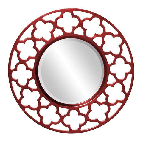 Howard Elliott Gaelic Red Mirror 20H x 20W x 1D - 92007R-Wall Mirror-Floor Mirror Gallery