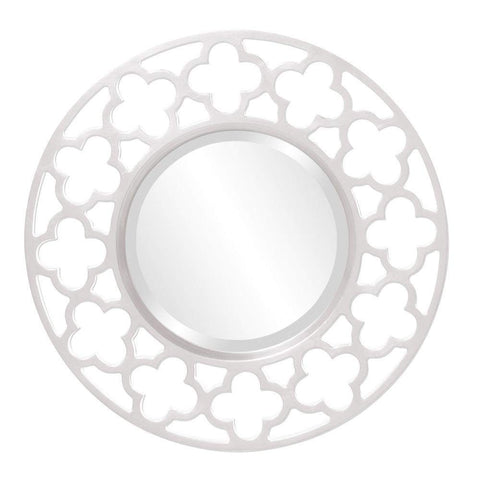 Howard Elliott Gaelic White Mirror 20H x 20W x 1D - 92007W-Wall Mirror-Floor Mirror Gallery