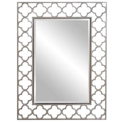 Howard Elliott Gaelic Nickel Mirror 20H x 20W x 1D - 92008-Wall Mirror-Floor Mirror Gallery