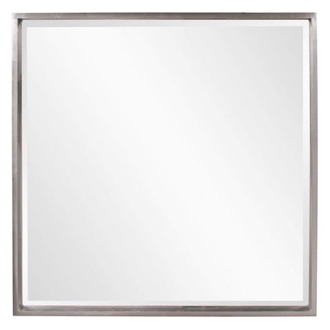 Howard Elliott Isa Nickel Mirror 40H x 40W x 2D - 92039-Wall Mirror-Floor Mirror Gallery