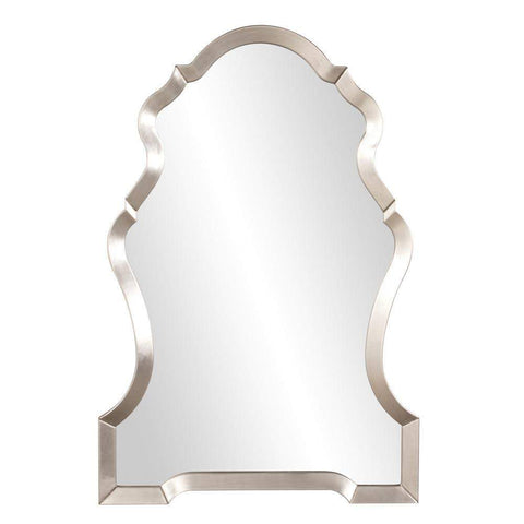 Howard Elliott Nadia Bright Silver Mirror 44H x 29W x 1D - 92062-Wall Mirror-Floor Mirror Gallery