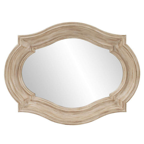 Howard Elliott Aubrey Rustic Quatrefoil Mirror - Large 36H x 36W x 3D - 92118-Wall Mirror-Floor Mirror Gallery