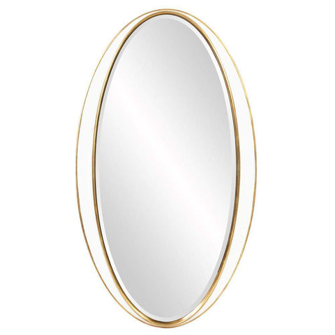 Howard Elliott Rania Oval Mirror 49H x 28W x 2D - 92150-Wall Mirror-Floor Mirror Gallery
