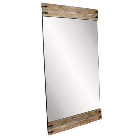 Howard Elliott Garrett Wood Floor Mirror 82H x 48W x 2D - 92163-Wall Mirror-Floor Mirror Gallery