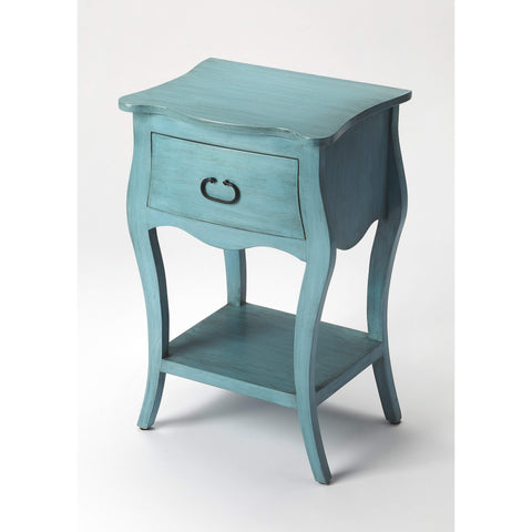 Butler Rochelle Distressed Blue Nightstand 9308301-Chairside Chests-Floor Mirror Gallery