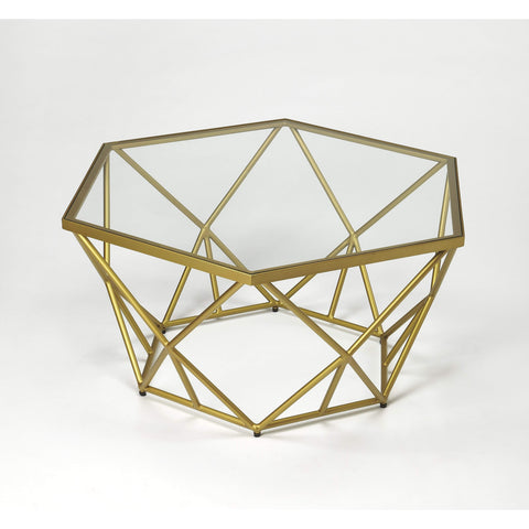 Butler Alondra Gold Powder Coated Cocktail Table 9321364-Cocktail Tables-Floor Mirror Gallery