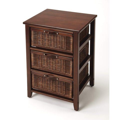 Butler Falmouth Rattan Chairside Chest 9361398-Chairside Chests-Floor Mirror Gallery