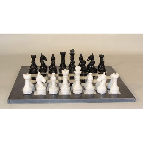 New Black and White Marble Set, WW Chess, Pakistan, 96616BW, by WorldWise Imports-Chess Set-Floor Mirror Gallery