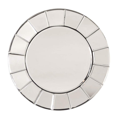 Howard Elliott Dina Small Round Mirror 12H x 12W x 1D - 99050-Wall Mirror-Floor Mirror Gallery